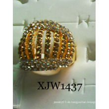 Diamant-Gold überzogener Ring (XJW1437)