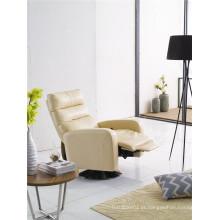 Sofá reclinável elétrico do sofá de couro do couro genuíno (736)
