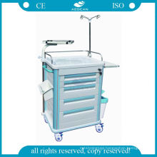 Medical transport abs mobile high density steel anesthesia trolley