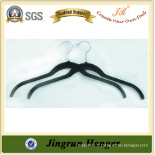 Expérience Fabricant Black Plastic Flocked Hanger for Sweater
