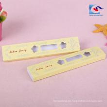 logotipo personalizado impreso caja de embalaje de papel de collar con ventana