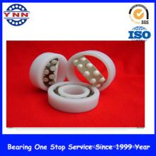 Rodamiento de bolitas del empuje del rendimiento barato y estable de cerámica blanco ZrO2