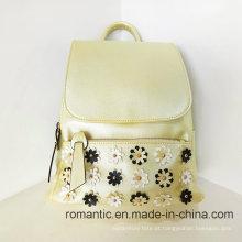 Trendy PU Lady Backpack Mulher bolsa de viagem de couro (LY060237)