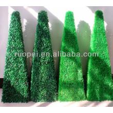 Artificial decorativo boxwood topiaria planta de grama de árvore