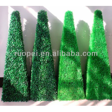Artificial decorative boxwood topiary tree grass plant