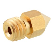 Custom precision threaded brass 3d printer m6 nozzles