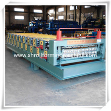 840 900 Colored Steel Roof Tile Forming Machine Of Double Layer