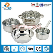 7Pcs Kitcehn Items Stainless Steel Cookware Sets