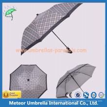 Automatischer Open 2 Faltender UV Block Regenschirm