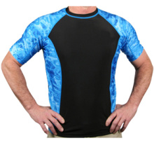 Custom homens Rash Guard personalizado mangas curtas Rash Guard