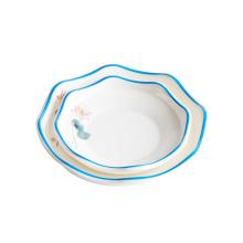 Melamine tableware round plate luxury creative hotel restaurant high quality irregular plate