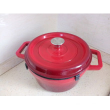 Traditional Enamel Cast Iron Casserole/Soup Pot
