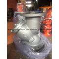 Y-образный фильтр фланцевых концов с литой сталью