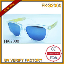 Óculos de armação verde trans para crianças (FKG2000)