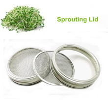 Canning jar stainless steel strainer sprouting lid screen metal mesh screen filter