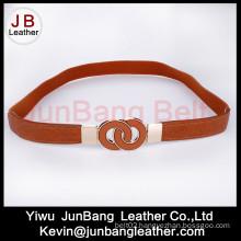 Brown Women Elastic PU Suitable Ladies Belts