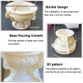 high quality DIY flowerpot making cement concrete moulds big planter flower pot mold plastic