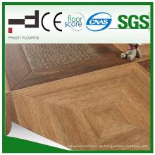 600 * 600 * 12mm Prägungs-Oberflächen-Parkett HDF lamellierter Bodenbelag