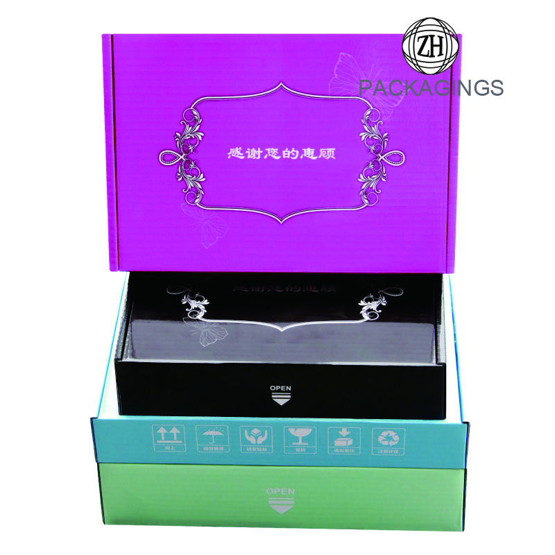 Colored shipping box wholesale