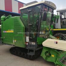 cosechadora de arroz sobre orugas mejorada caja de cambios con cabina