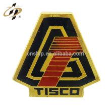Pas cher de haute qualité transfert impression voiture logos insigne de revers en métal