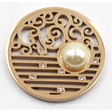Hochwertige 316L Edelstahl Münze Platte mit Perle
