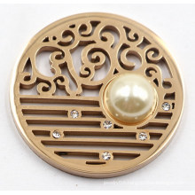 High Quality 316L Stainless Steel Coin Plate with Pearl