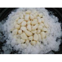 Puro branco alho cravos em salmoura