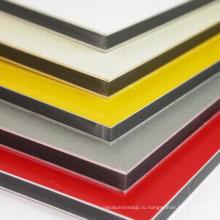 4мм ПВДФ/ПЭ огнезамедлительная алюминиевая составная панель стены с хорошим качеством