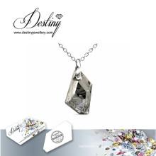 Destin bijoux cristal de Swarovski pendentif Knight & collier