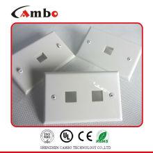CE / ROHS / ISO Утвержденный 1/2/4 порт US type wall plate cat 6 Настенные плиты