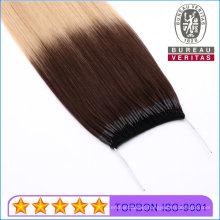 "Top Quality 100% Brazilian Straight Muti Color 18"" Virgin Human Hair Knot Thread Hair Extension Remy Hair"