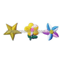 Small Star and Flower 3D Embroidery Badges