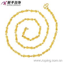 42199 bijoux xuping joint en bambou forme unique collier de chaîne de culture bouddhiste