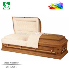 Calidad original madera fábrica especializada suministro de ataúdes