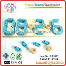 Números de madera del juguete de la matemáticas de la educación