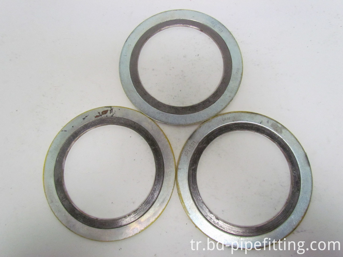 ASME PTFE Materials Spiral Wound Gasket (Carbon steel Outer Ring)