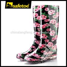 Ботинки дождя Rainbow, ботинки дождя фарфора, ботинки дождя пользовательских логоса W-6040C