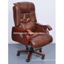 Executive Office Light Brown Leather Throne Chair (FOH-B8003)