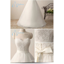 Bandage Bow Sash Lace Appliques A-Line Romantic Angel Wedding Dress