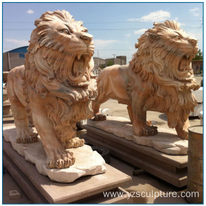 Stone Lion Statue For Outdoor Decoration