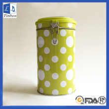 Round Metal Tin Box For Coffee