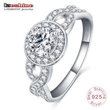 Projetos do anel de casamento da prata esterlina do valor 925 (SRI0006-B)