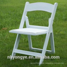 Virgin material White Plastic Resin Folding Chair for weddings