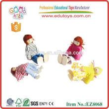 Marionnettes en gros, jouets en marbrure en bois