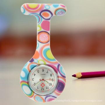 Warm Heart Shape Silicone Nurse Watch with Grades Quality