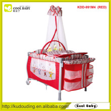 Factory New Playpen for Baby with Mosquito Net Double Layer with Mattress U style Diaper Changer