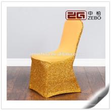 Mariage coloré de qualité supérieure vendu en gros lavant en gros Banquet Chair Covers