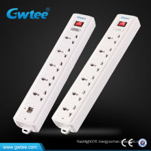 5-gang electrical socket usb 220v