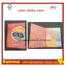 Cahier collant d'impression de couleur avec la conception d'OEM